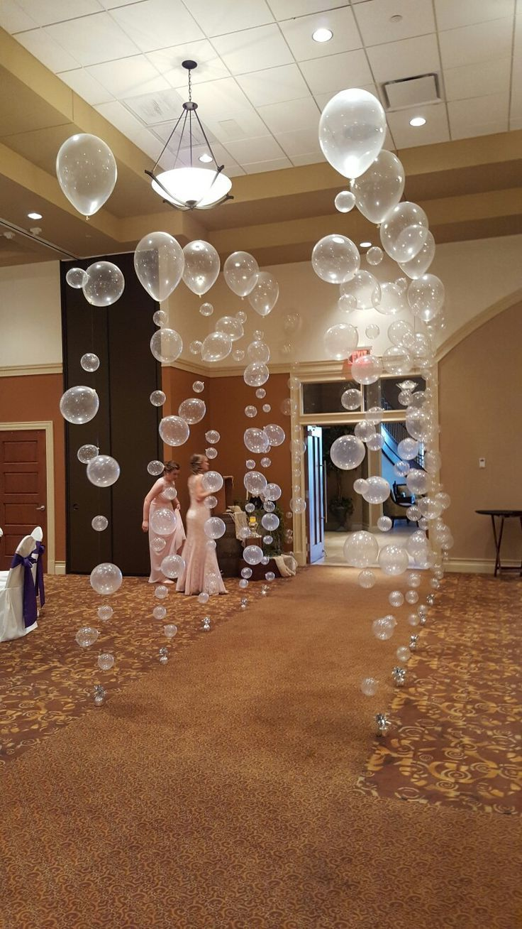 Bubble balloons walkway for Cincinnatti Christian school prom, #balloons #bubble...