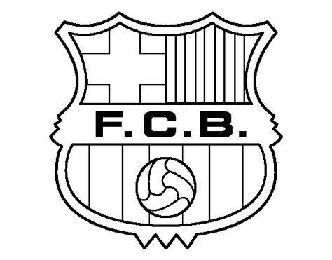 Dibujo de un Escudo del F.C. Barcelona para pintar, colorear o ...