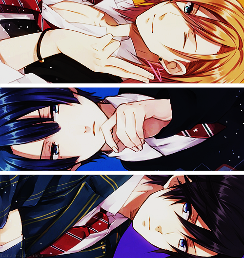 Uta no Prince-sama - Jinguji Ren, Hijirikawa Masato and Ichinose Tokiya