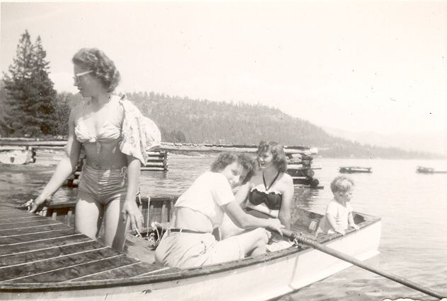 Vintage Lake Tahoe Boat Picture
