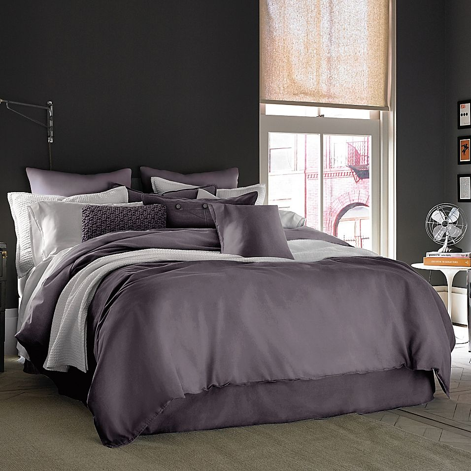 Kenneth Cole Reaction Home Mineral Twin Bed Skirt In Orchid