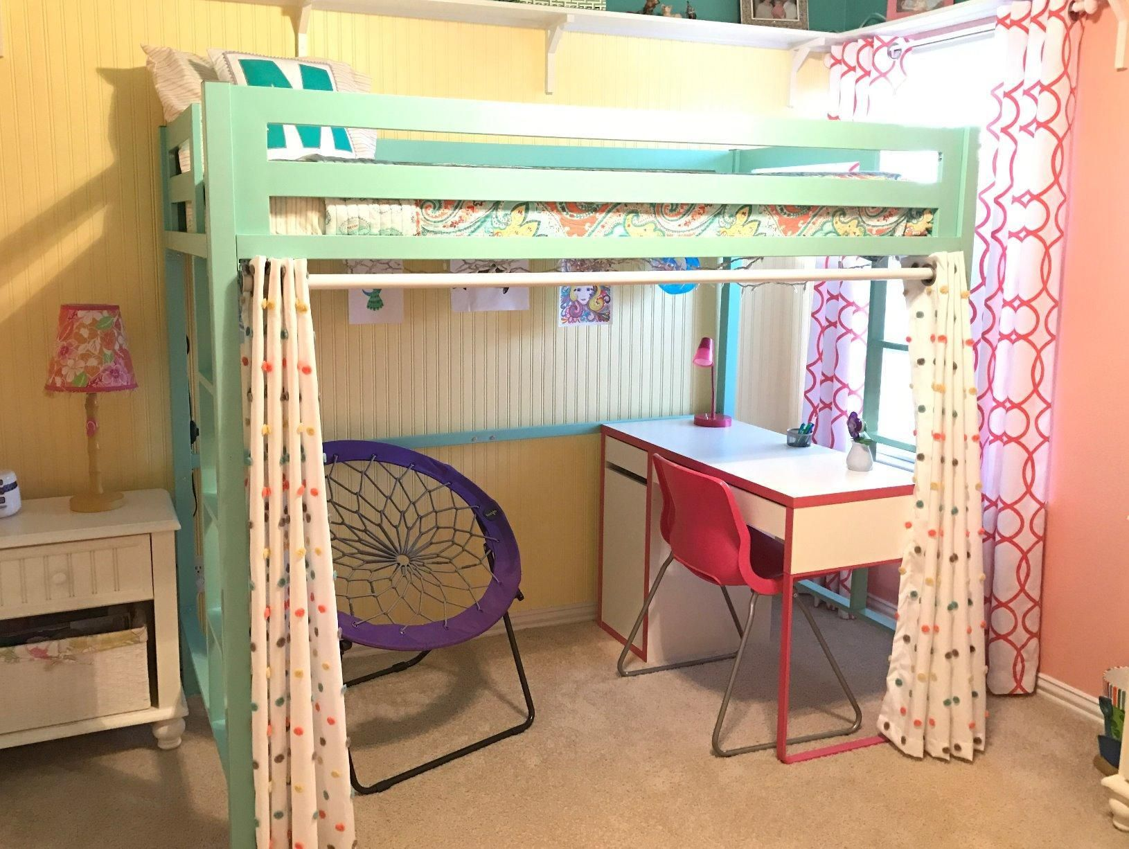 WE Furniture Premium Twin Metal Loft Bed