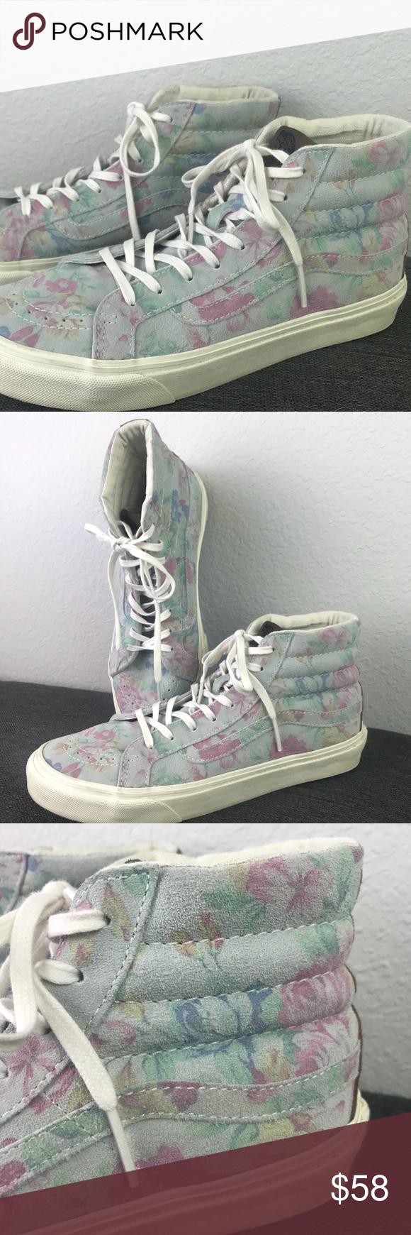 914b65c0f9 Vans Sk8-Hi Slim Sneaker Suede Floral Marshmallow