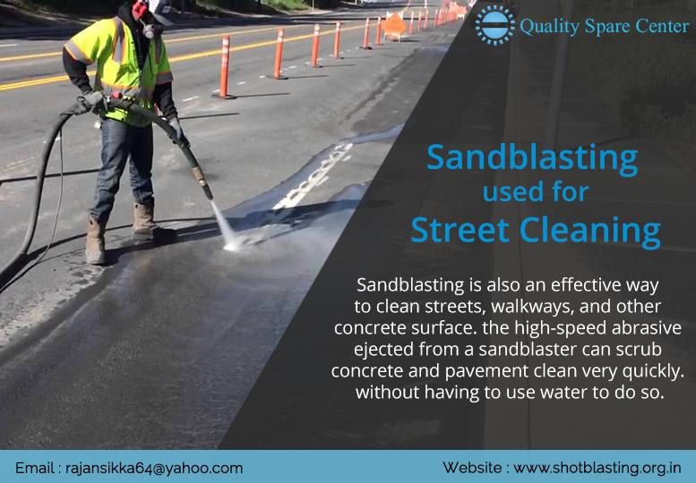 sandblasting used for Street Cleaning Sand blasting