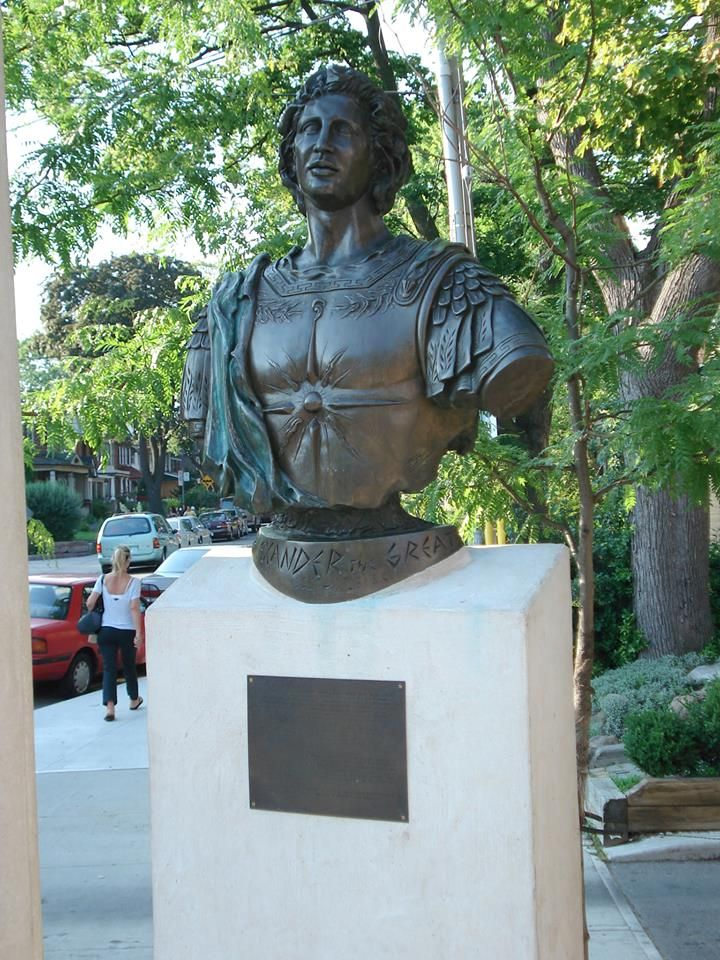 Statue of Alexander the Great - Toronto, Canada.  History of #Macedonia, a kingdom of ancient GREECE