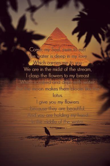 Ancient Egyptian love Poem After J.M.Kellner Under the protection ...