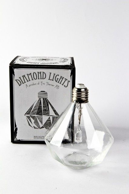 Eric Therner Diamond Light 36 00 The Light Uses A Small Halogen Light Bulb With A Lifespan Of 2000 Hours Embedded Diamond Light Bulb Eclectic Lighting Light