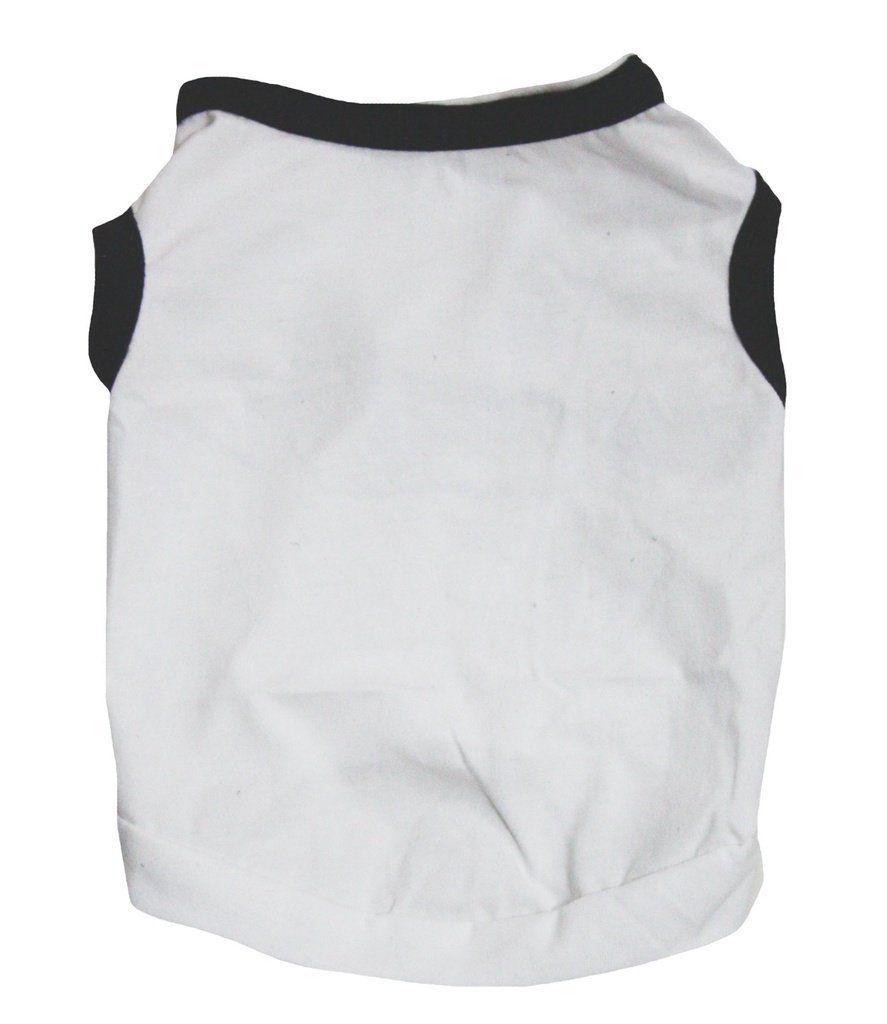 Petitebella puppy clothes dog dress plain white black cotton tshirt