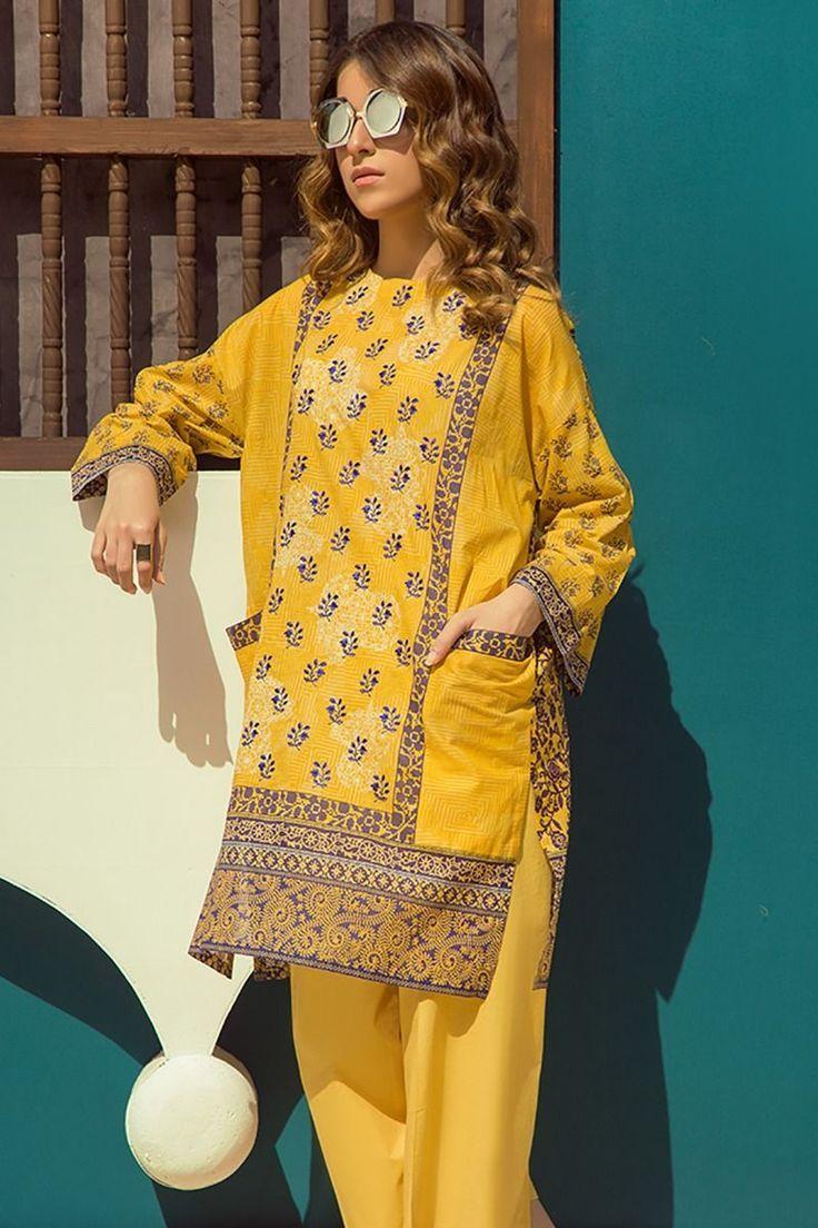 Buy Online Refreshing Yellow 2 Piece Dress By Latest Pakistani Lawn Zellbury Pret Collectio Kurti Designs Party Wear Pakistani Fashion Casual Casual Wear Dress