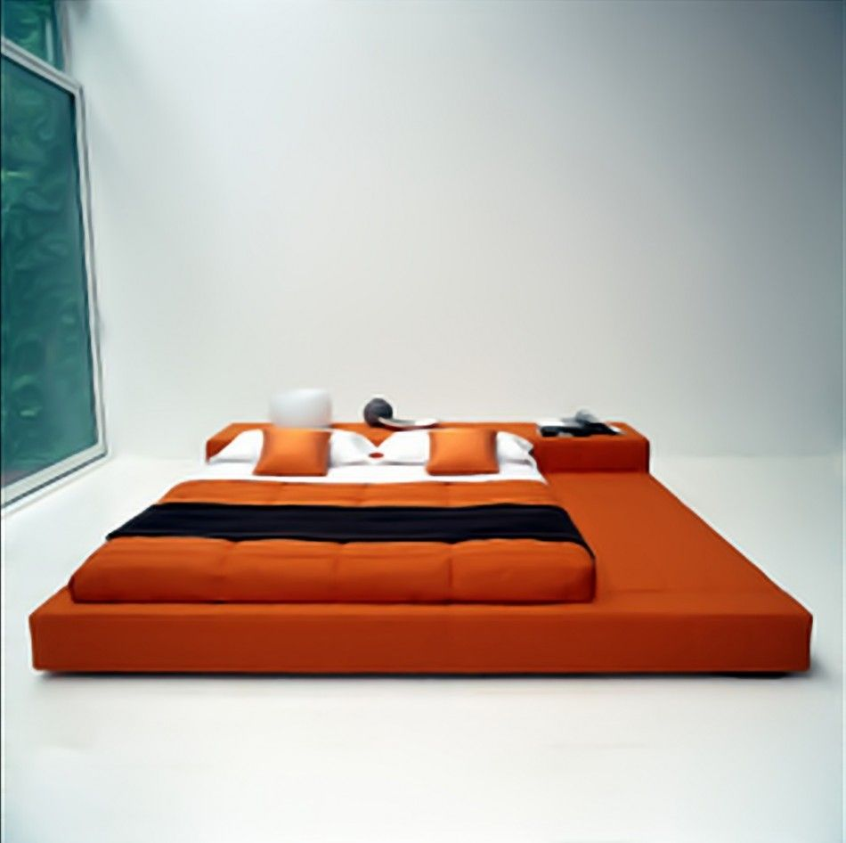 Maybe not so much orange, but love the Japanese bed :) | For the ...