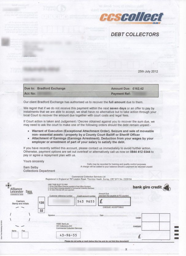 Ccs Collect Debt Collection These Debt Collection Letters Are