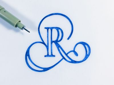 The Letter R Tattoos Letras Tipografia Caligrafia