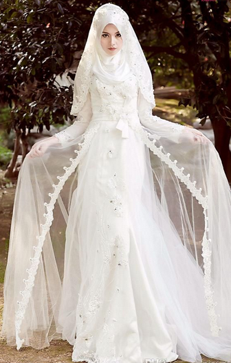 Gaun Pengantin Muslim Elegan Fashion And Style Pinterest