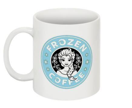 Disney Princess Elsa Frozen Coffee Mug Blue by ThePrintParlor