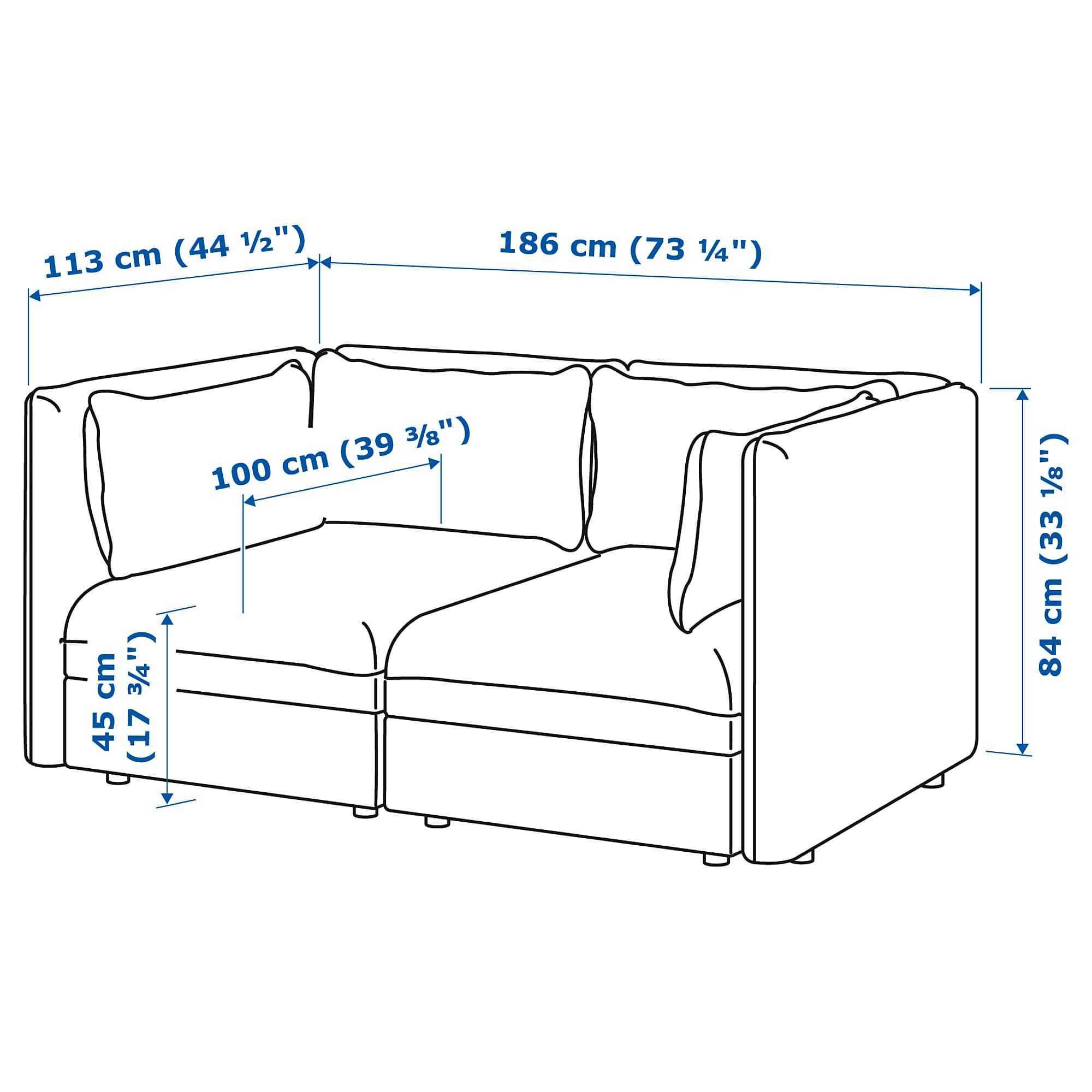 Vallentuna Modular Loveseat Hillared Light Blue Ikea Vallentuna Flexible Furniture Love Seat