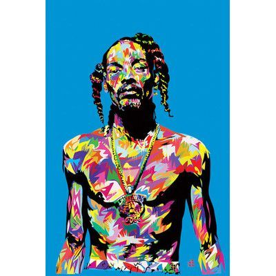 East Urban Home 'Snoop' Graphic Art on Wrapped Canvas | Wayfair