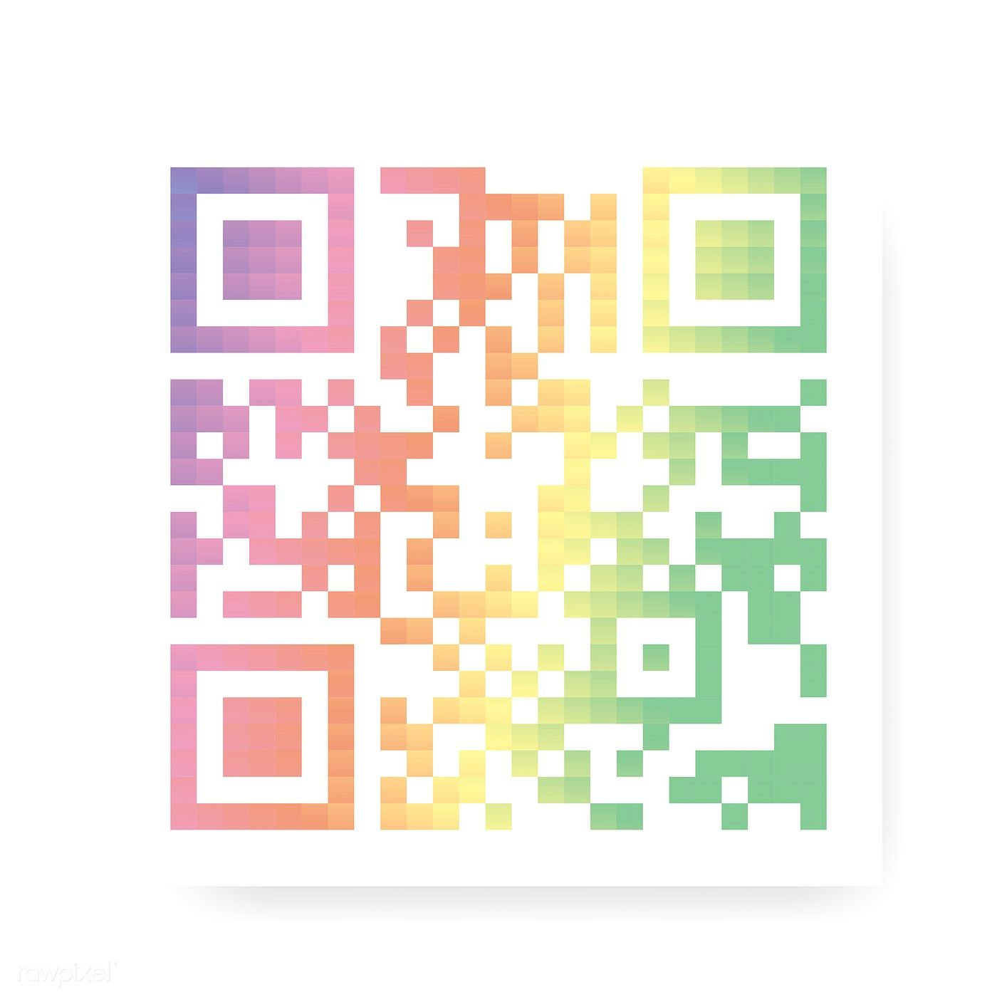 Flat colorful QR code vector | free image by rawpixel com