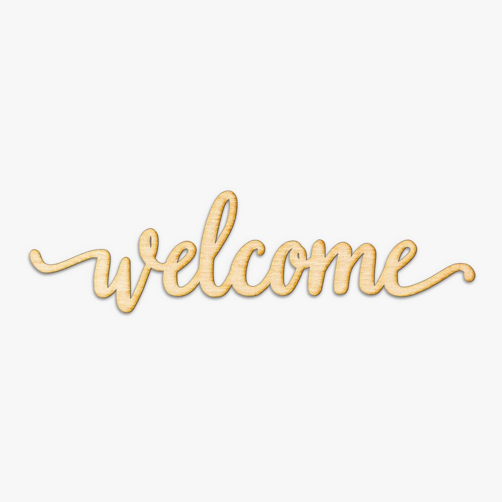 Welcome Script Wood Sign | Home Decorating | Pinterest | Wood signs ...