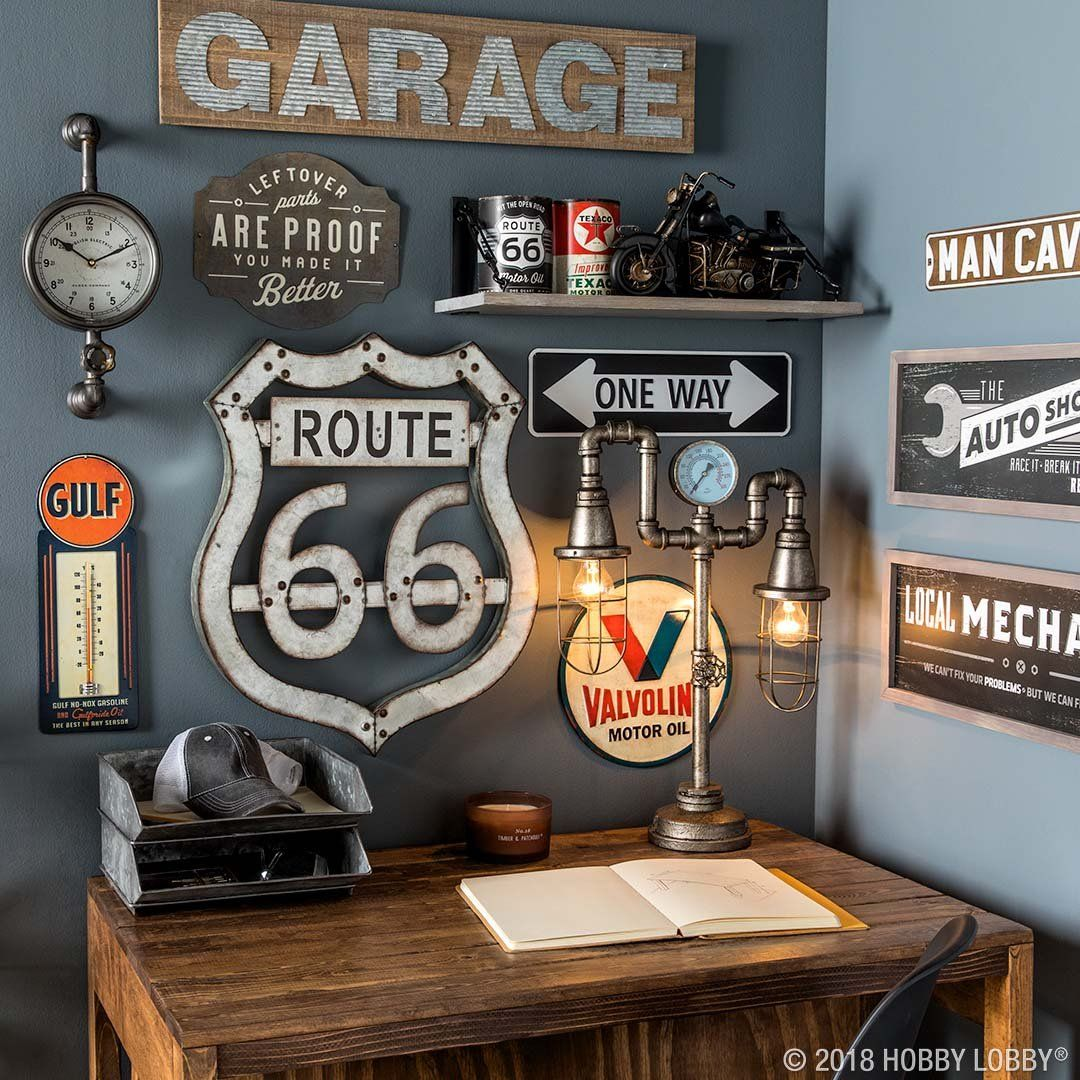 Update Your Man Cave With Automotive Decor Man Cave Home Bar Man Cave Bedroom Man Cave Bathroom