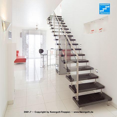 kenngott treppe terzo stufen graphitblack freitragende kenngott treppe stein stufen in. Black Bedroom Furniture Sets. Home Design Ideas