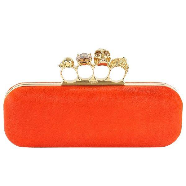 Orange Pony Knuckle Box Clutch