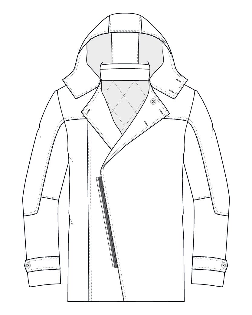 Dossier technique veste tailleur homme