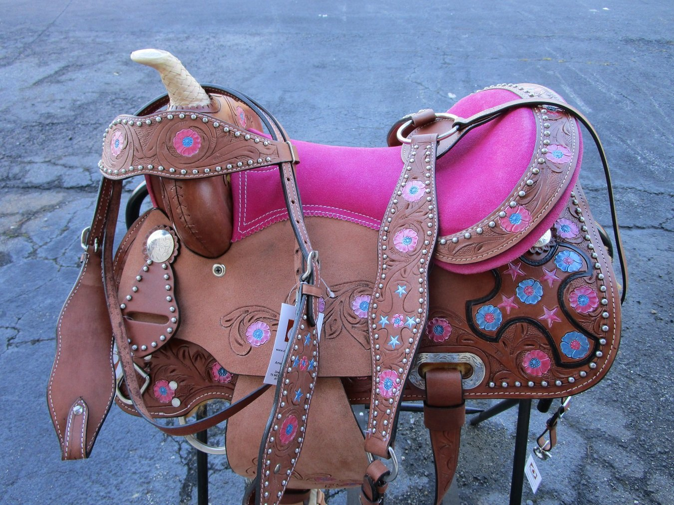 12 13 YOUTH COWBOY SADDLE WESTERN YOUTH CHILD PONY BARREL RACING SHOW TACK SET