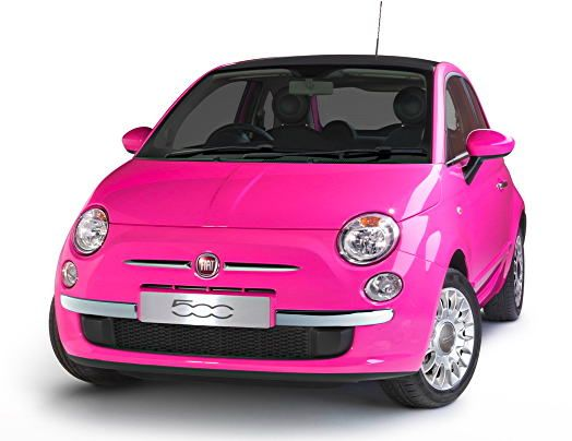 fiat 500 in a good pink fiat 500 pinterest voitures. Black Bedroom Furniture Sets. Home Design Ideas