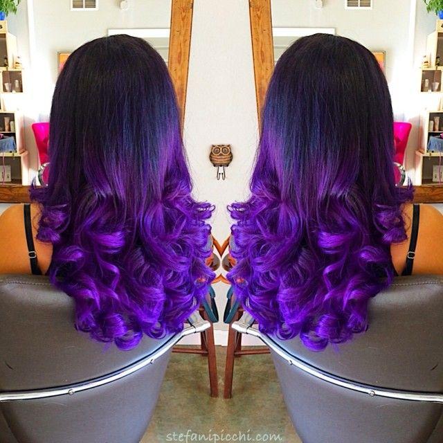 Black to dark purple mermaid colorful ombre indian remy clip in black to dark purple mermaid colorful ombre indian remy clip in hair extensions cs023 pmusecretfo Gallery