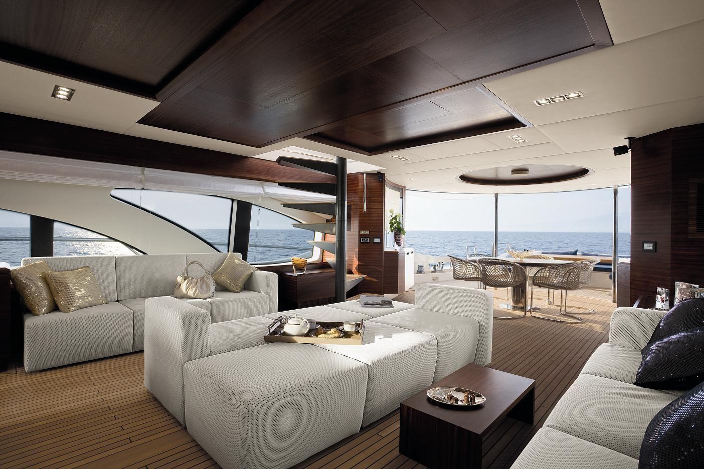 Azimut Leonardo 100 Yacht Interiors In Alcantara
