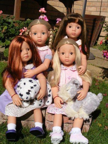 Gotz Anna, Katie, Emily and Clara Gotz Happy Kidz dolls