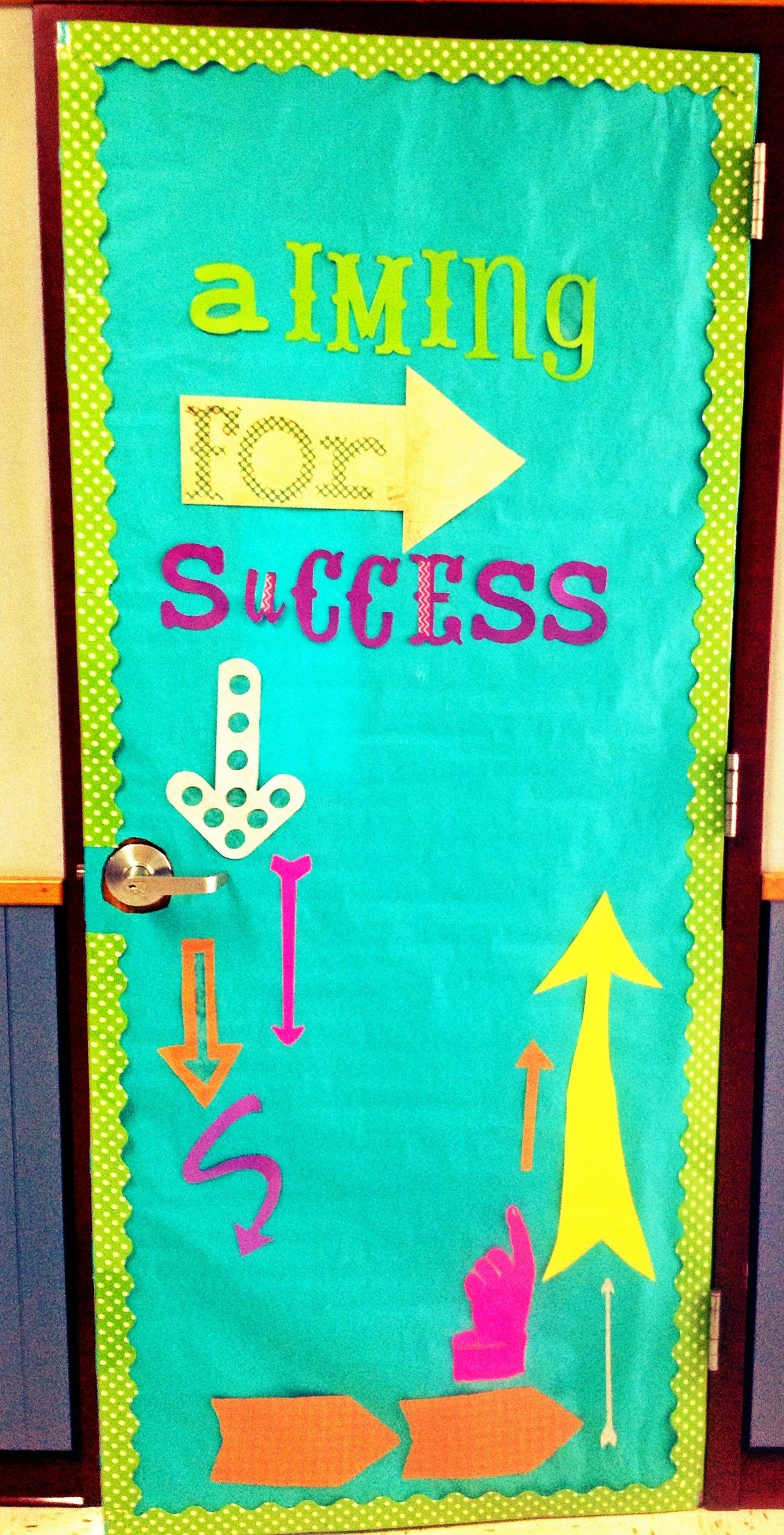 Aiming for Success  Arrow bulletin board or door decor for