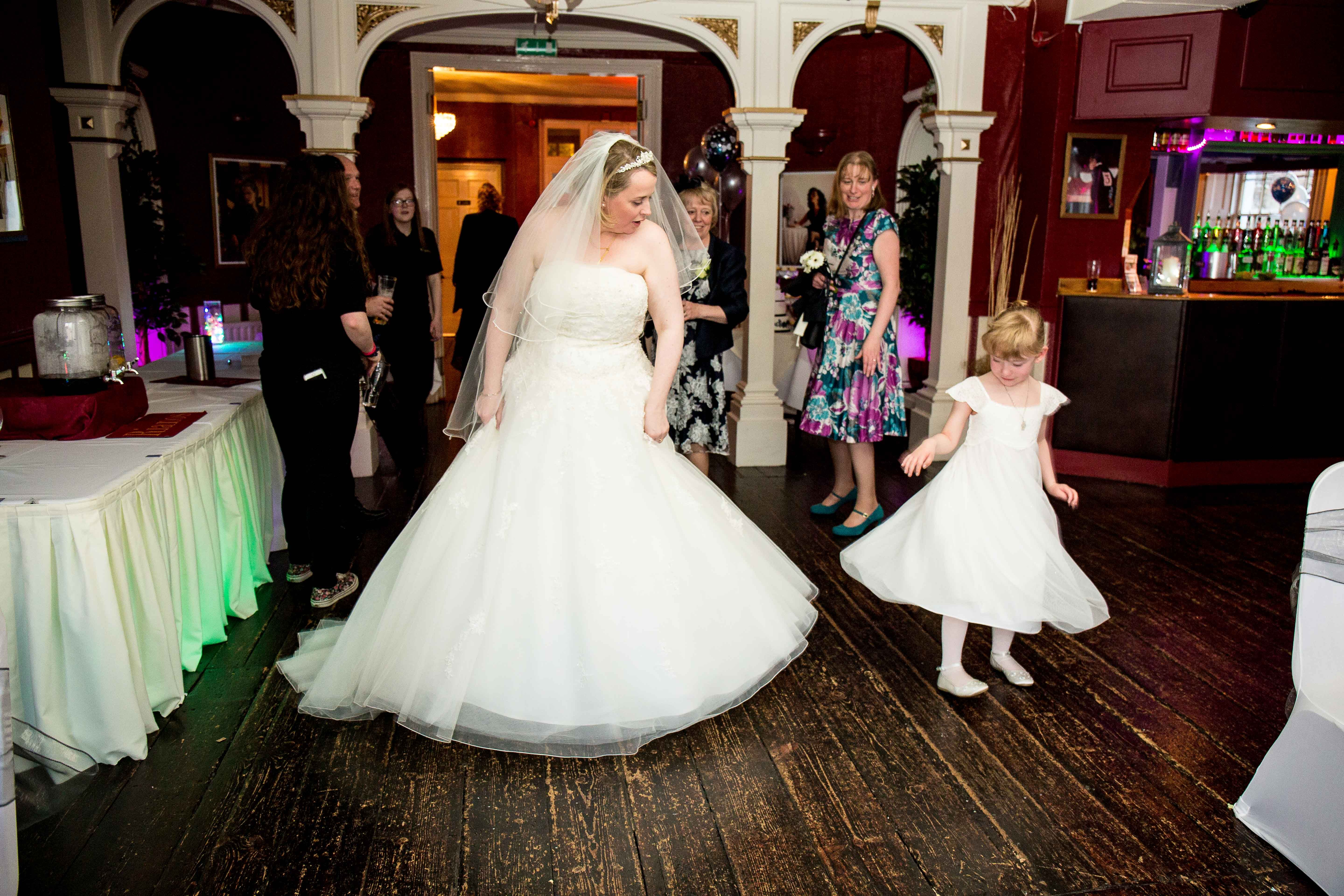 Lisa and Andy's Maidstone wedding - reception at Rianos