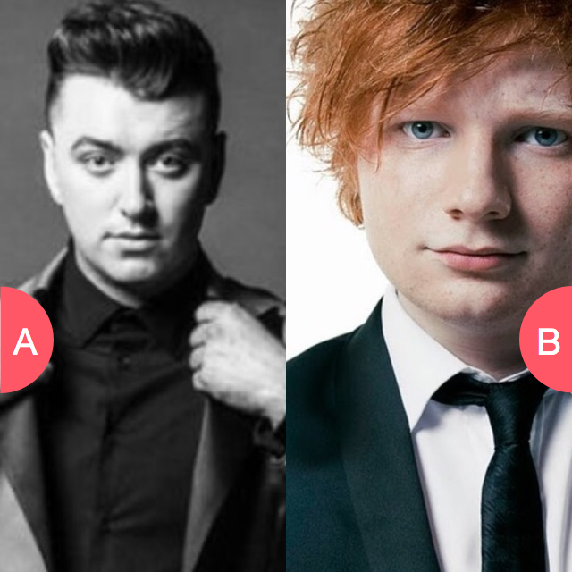 Sam Smith or Ed Sheeran? Click here to vote @ http://getwishboneapp.com/share/4409167
