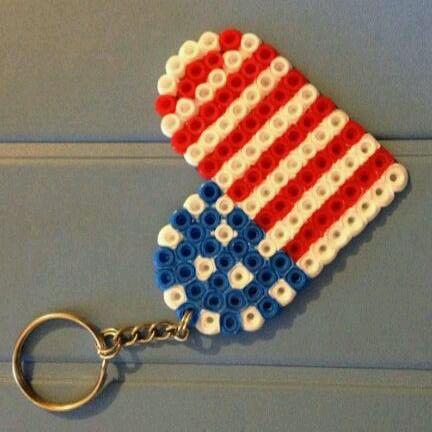 Corazón USA hama beads.