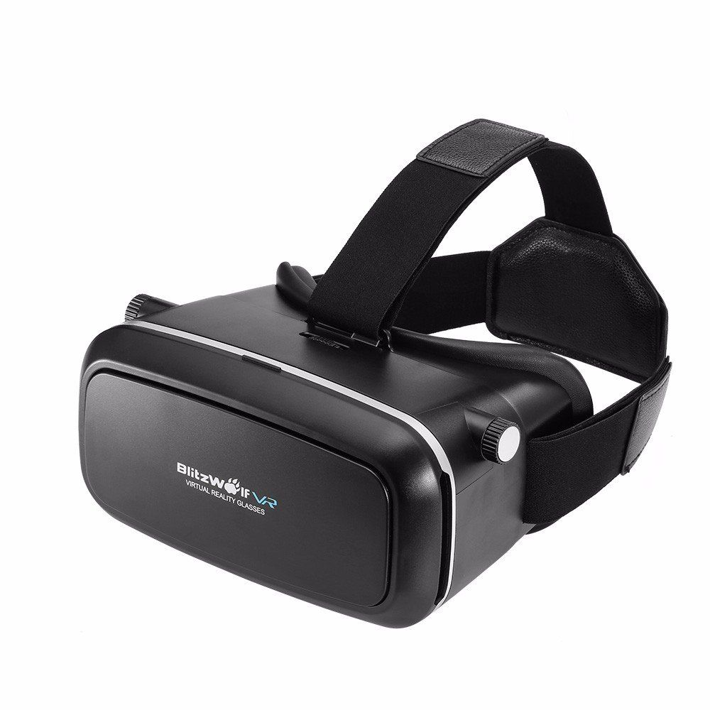 "Resultado de imagem para BlitzWolf® BW-VR1 VR Glasses Virtual Reality Headset 3D Movies Games Device For 3.5""-6.0"" Smartphone"