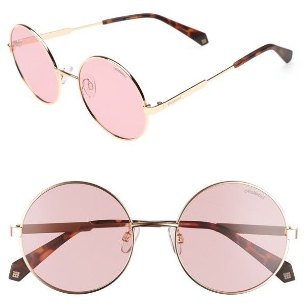 9e954347b96 Women s Polaroid 55Mm Polarized Round Sunglasses ( 65) ❤ liked on Polyvore  featuring accessories