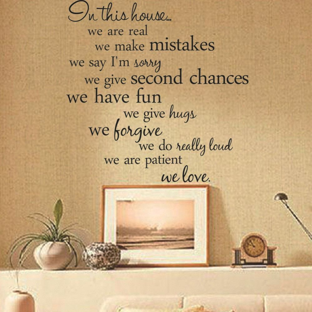 Text Wall Sticker The Letters In This House Living Room Tv ...