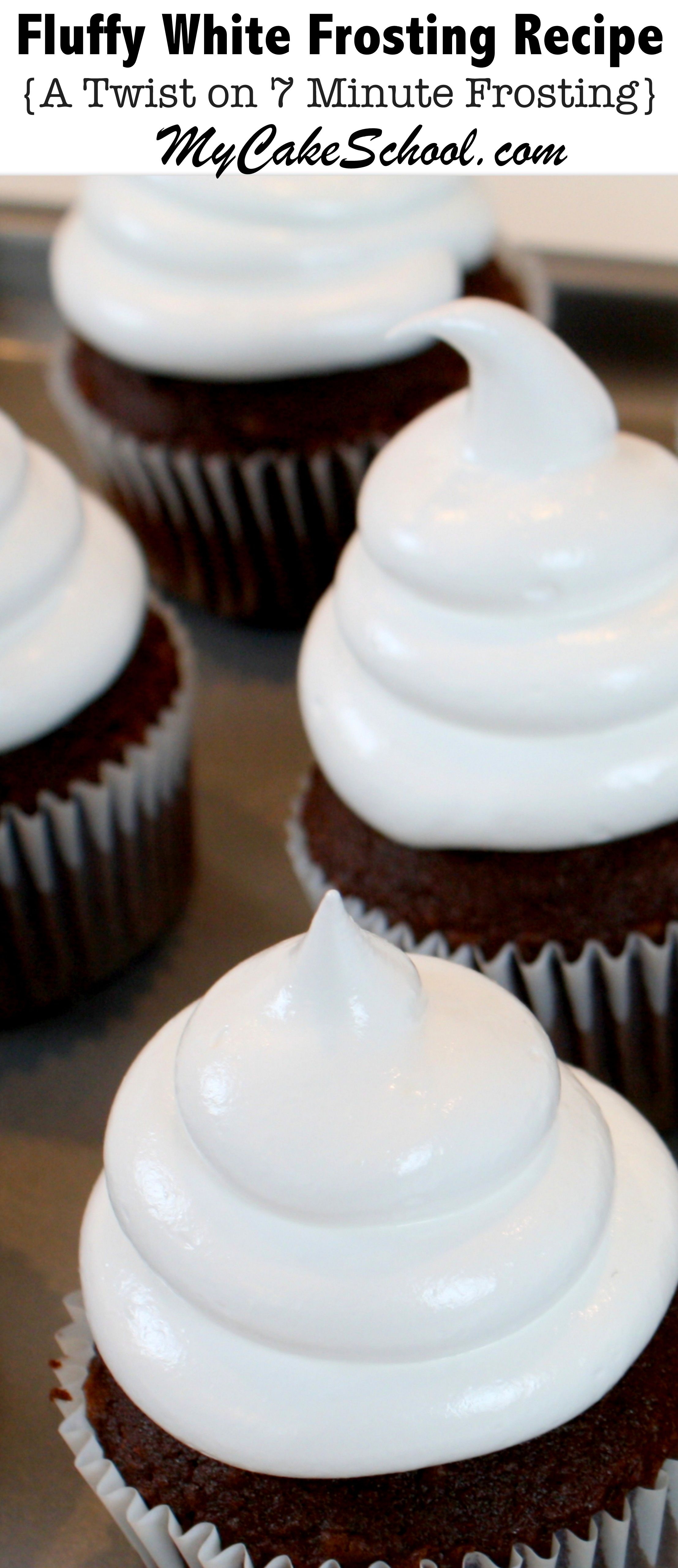 Fluffy White Frosting ( A Seven Minute Frosting #frostings