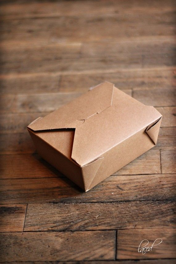 Set of 6 Large Bio-Plus Earth Take Out Boxes | Microwavable Wedding
