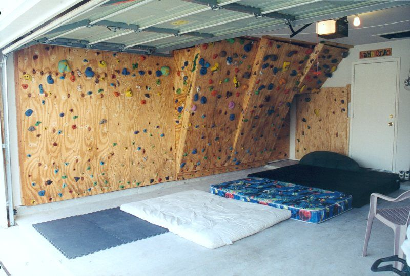 The Hahnu0027s Homebuilt Climbing Wall (in our Garage) Climbing