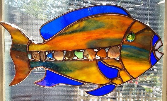 Stained Glass Parrotfish via Etsy