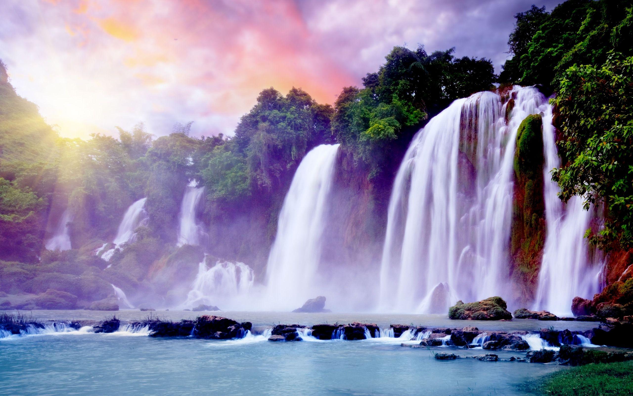Free Waterfalls Wallpaper Paradise Falls Wallpapers Hd Wallpapers 93517 Waterfall Wallpaper Scenery Waterfall