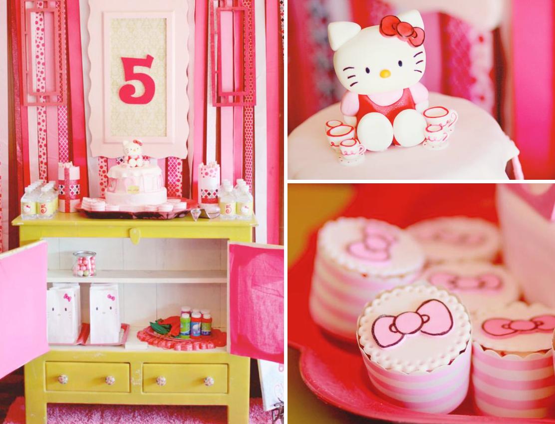Hello Kitty Girl Pink 5th Birthday Tea Party Planning Ideas