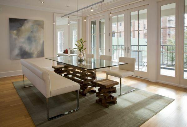 Einmaliges Esszimmer Mit Neuen Stühlen   Einmaliges Esszimmer Mit Neuen  Stühlen Couch Leder Gepolstert Glastischplatte
