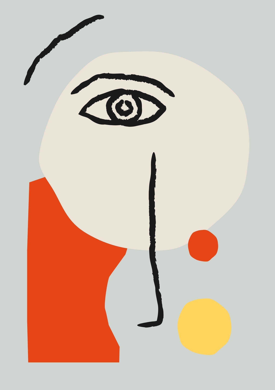 Photo of Matisse Face Art Print  Henri Matisse inspiriertes Porträt Strichzeichnung  Vis…