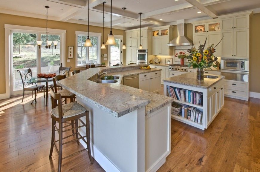 Small Kitchen Island With Sink 34 luxurious kitchens with island sinks | cookbook storage