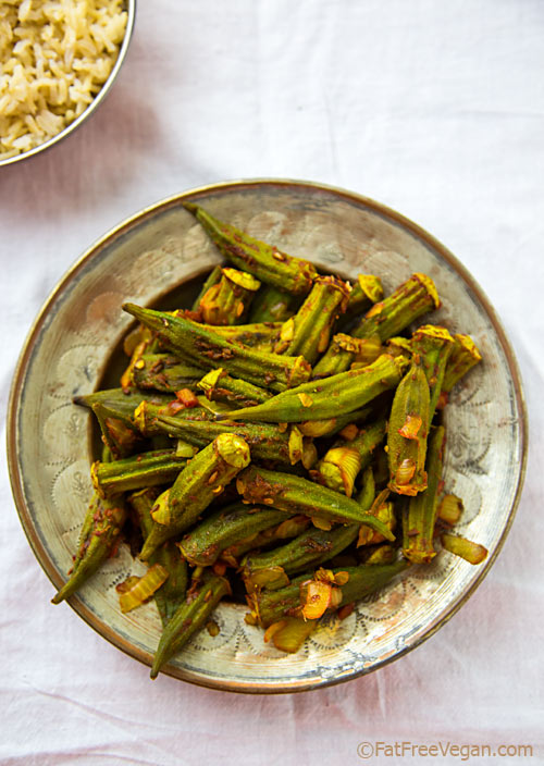 Roasted Okra Masala Recipe Roasted okra, Food recipes