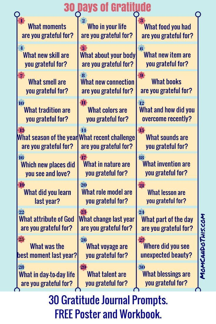 30 Day Gratitude Challenge 2019. With free Gratitude Journal and Poster