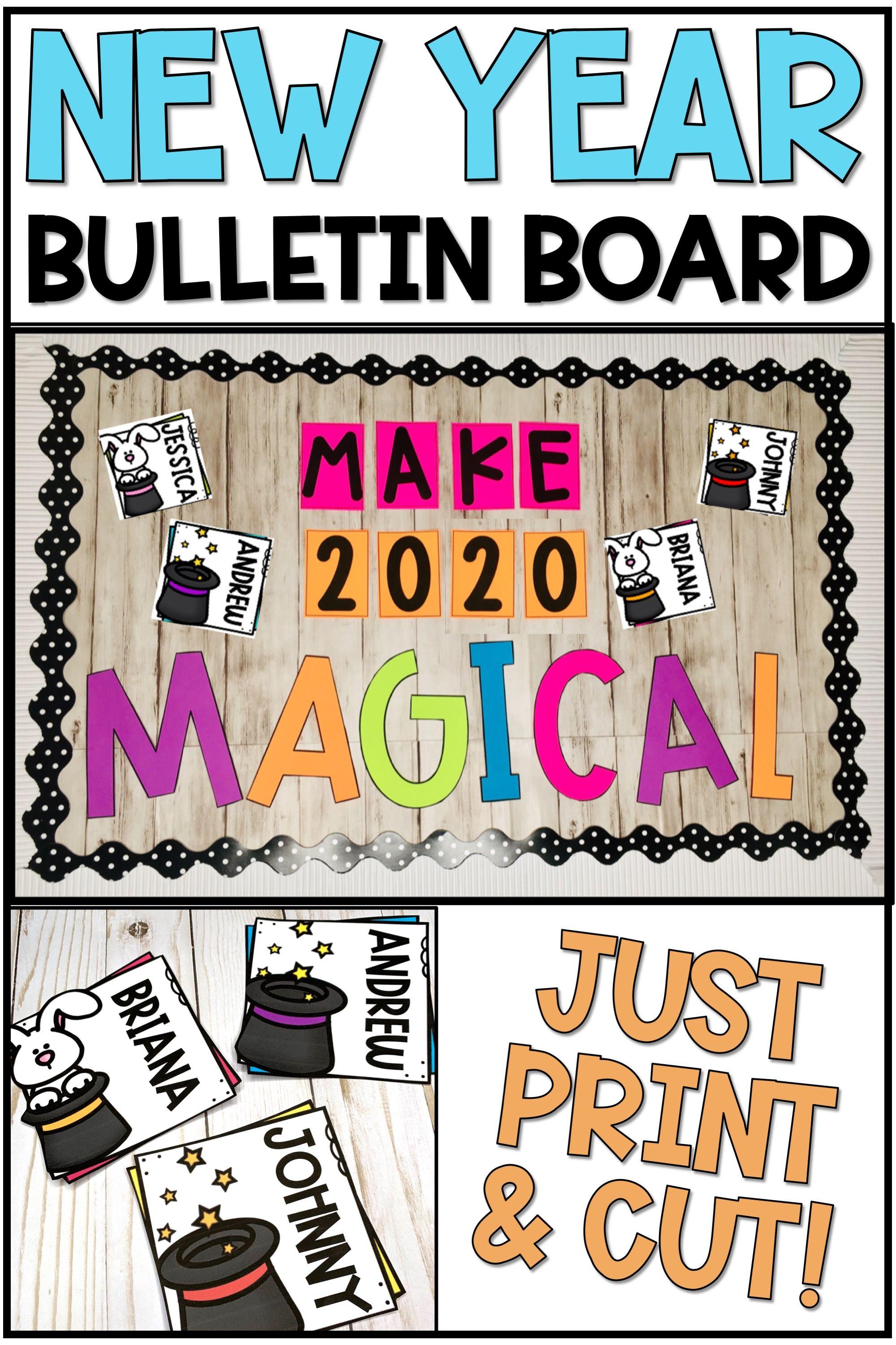 New Year Bulletin Board or Door Decoration | Preschool ...
